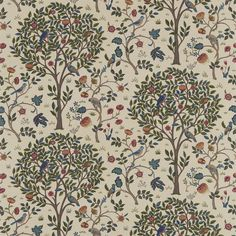 The Original Morris & Co - Arts and crafts, fabrics and wallpaper designs by William Morris & Company | Products | British/UK Fabrics and Wallpapers | Kelmscott Tree (DM6F220327) | Morris Archive Prints