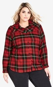 City Chic are the Leaders in Plus Size Womens Fashion specializing in Plus Size Womens Dresses, Tops, Bottoms, Outerwear, Swimwear and Lingerie. City Chic, Comfortable Fashion, Plaid, Plus Size, Lingerie, Clothes For Women, Long Sleeve, Womens Fashion, London Grammar