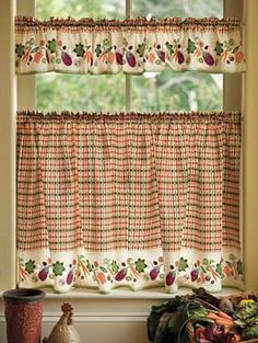 Wonderful Garden Window Cafe Curtains. Iu0027m Looking For A More Autumn Fabric, But