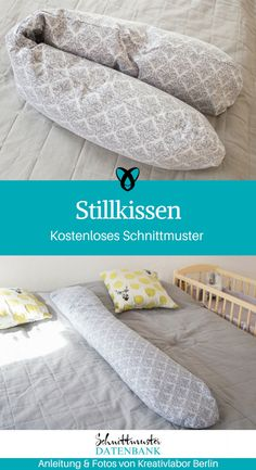 Nursing pillow with removable cover- Stillkissen mit Wechselbezug The nursing pillow from Kreativlabor Berlin is a great idea for all newly minted mums! The cover is sewn of cuddly jersey and can even be pulled off, … Read more - No Sew Pillow Covers, Couch Pillow Covers, Handmade Pillow Covers, Pillow Cover Design, Living Room Decor Pillows, Diy Bebe, Living Room Color Schemes, Nursing Pillow, Baby Cover