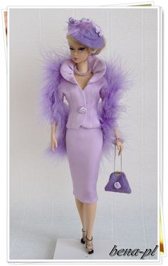 ♥ Barbie in purple Purple Love, All Things Purple, Purple Rain, Shades Of Purple, Barbie I, Barbie World, Barbie Dress, Barbie Clothes, Barbie Collection