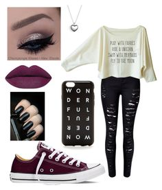"""""""Untitled #79"""" by percabeth818 ❤ liked on Polyvore featuring Converse, Pandora and J.Crew"""