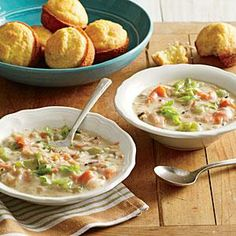 Smoked Salmon Chowder | Cooking Light #myplate #veggies #protein #dairy
