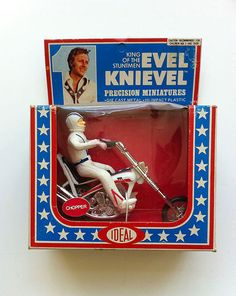 Evel Knievel Precision Miniatures Chopper, mint in box, from Ideal Toys
