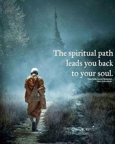 The spiritual path leads you back to your soul Spiritual Path, Spiritual Guidance, Spiritual Wisdom, Spiritual Quotes Universe, Buddha Wisdom, Buddha Quote, Path Quotes, Life Quotes, Wisdom Quotes