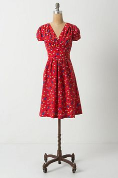 Basque Floral Dress, #anthropologie
