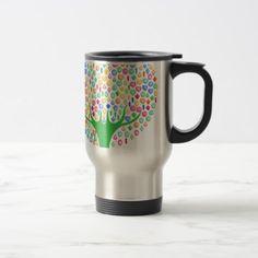 Gem tree travel mug - stones diy cyo gift idea special
