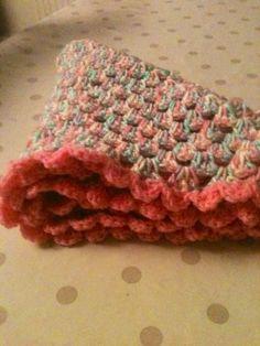 Girly crochet blanket