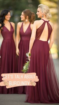ae9bc3664fb Burgundy Bridesmaid Dresses Wine Bridesmaid Dresses