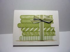 """by Joan Robertson....... a """"booklovers"""" card! (and a way to use up scraps)"""
