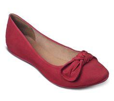Sapatilha com laço romântico vermelha | Sapatilhas | Bottero Calçados