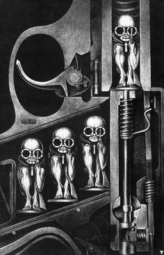 The extraordinary and bizarre H. R. Giger - Birth Machine