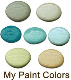 Not Just a Housewive Paint Colors. Great color palette for the interior of an open concept house. Beautiful combination.