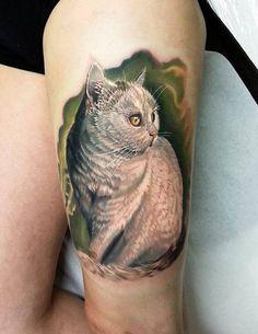 Cat tattoo - 55 Examples of Cute Cat Tattoo  <3 <3
