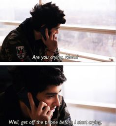 Zayn talking to his mum ! So cute :) I think I am crying now !!!