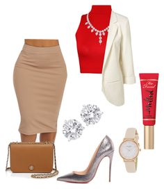 """#51"" by bixncaa on Polyvore featuring WearAll, Christian Louboutin, Kate Spade, Too Faced Cosmetics and Tory Burch"