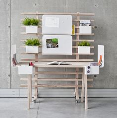 Great solution even for homeworking worknest-with-space-divider.jpg  http://inwardfacinggirl.com/blog/wanted-desk-designed-for-creative-work#.UhdLjJIvlsk