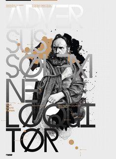 Auri Sacra Fames by Anthony Neil Dart Cool Poster Designs, Creative Poster Design, Creative Posters, Graphic Design Posters, Cool Posters, Graphic Design Typography, Graphic Design Illustration, Graphic Design Inspiration, Design Art