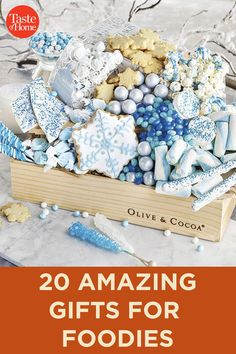 20 Amazing Gifts for Foodies Best Friend Christmas Gifts, 25 Days Of Christmas, Perfect Christmas Gifts, Jar Gifts, Food Gifts, Olive And Cocoa, Edible Cookies, Edible Glitter, Amazing Gifts