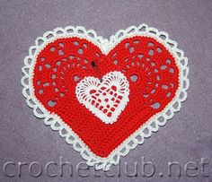 tons of free crochet patterns for hearts, including filet