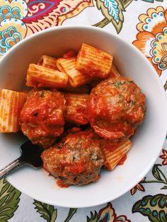 Garlic Meatball Pasta