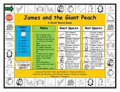 JAMES AND THE GIANT PEACH BOARD GAME - TeachersPayTeachers.com