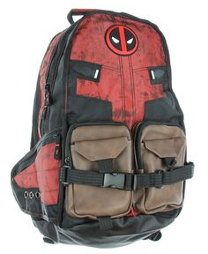 This Deadpool Laptop Backpack has multiple compartments and zippered pockets for all your stuff. It has some cool little details on the side and back. Deadpool Gifts, Hipster School Outfits, Marvel Backpack, Best Laptop Backpack, Laptop Bag, Pink Mossy Oak, Under Armour Sweatshirts, Marvel Clothes, Camo Purse