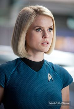 Carol Marcus - Alice Eve in Star Trek Into Darkness Backward step Star Trek stripping to underwear crying failing Star Trek Enterprise, Star Trek Starships, Star Trek 1, Star Trek Ships, Star Trek Characters, Star Trek Movies, Female Actresses, Actors & Actresses, Blonde Actresses