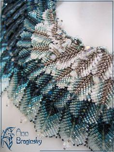 Ann Braginsky - closeup of feather 'shawl'