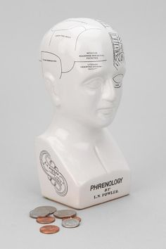 Phrenology Head Bank  #UrbanOutfitters, i like this a lot and definitely want a bank like this