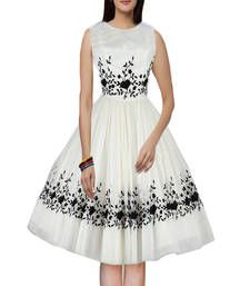 Buy White embroidered georgette western wear western-wear online