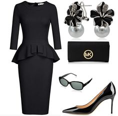 The Black Magic- An outfit fit for a formal event as well as a business meeting. Choose your pick to shine at event with this beautiful budget friendly outfit Böhmisches Outfit, Blazer Outfits, Chic Outfits, Royal Fashion, Star Fashion, Womens Fashion, Yves Saint Laurent, Funeral Outfit, Hats For Women