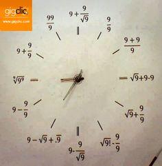 Reloj matemático... http://www.gigclic.com  tu referente para los trabajos online