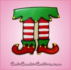 Our Pink Pink Elf Legs cookie cutters are 3-1/2 inches tall, 3-1/2 inches wide, depth 3/4 inch and are made out of pink plastic. Cleaning instructions: hand wash, towel dry. Buy your pink elf legs coo