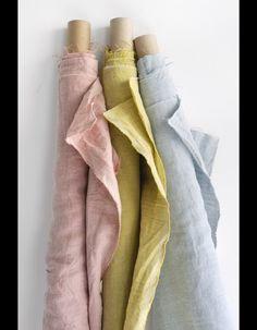 Tissus en lin D KIEFFER pour Rubelli- La maison en mode pastel - Elle Décoration - 2014