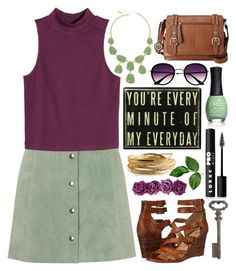"""""""You're Every Minute of My Everyday"""" by forever-beautiful-dreams ❤ liked on Polyvore featuring Topshop, H&M, Frye, Relic, Monet, Retrò, ORLY, LORAC, YooLa and Thirstystone"""