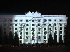 This is an actual building in the Ukraine filmed in front of an audience of thousands. Watch it come alive through amazing light projection and music. Pretty Amazing.