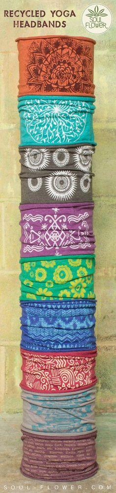 SoulFlower Recycled #Yoga Headbands | Soul Flower Shop