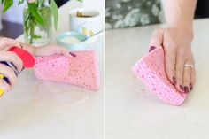 Wipe away tea and coffee stains from countertops.
