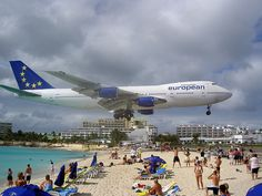 Maho Beach, St. Martin. Holy Crap thats low! So much fun though