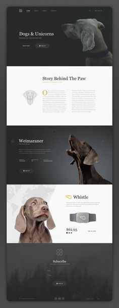 Dribbble - dogs___unicorns.png by Marina Matijaca. If you like UX, design, or design thinking, check out theuxblog.com