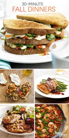 These quick and easy recipes (ready in 30 minutes or less) for your favorite comfort foods are sure to please your whole clan. http://www.bhg.com/recipes/quick-easy/dinners-30-minutes-less/30-minute-meals/?socsrc=bhgpin10161330minmeals