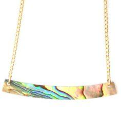 Abalone Shell Bar Necklace