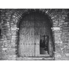 Doors of an old Catholic Church in Santiago, on the shores of Lake Atitlan Guatemala