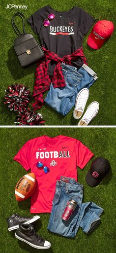 Get your game day gear together for football season! JCPenney has tailgate outfits and all your favorite football team gear at the SportsFan shop. Converse shoes are always a must for football games. Pair them with your favorite jeans for a fall outfit you can wear all season long.