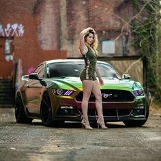 Auto Girls, Car Girls, Girl Car, Sexy Cars, Hot Cars, Sexy Autos, Mustang Girl, Bmw Autos, Trucks And Girls