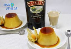 Flan de Baileys Thermomix Baileys, Panna Cotta, Snack Recipes, Food And Drink, Chips, The Originals, Desserts, Paninis, Ideas Para
