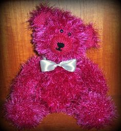 Ruby knitted in tinsel wool
