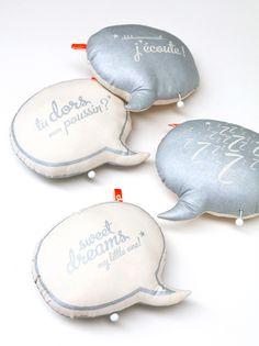 Nouveau petit coussin bulle boîte à musique en coton biologique * Olivelse