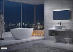 Adoro Freestanding Bathtub Florence Oval in solid surface